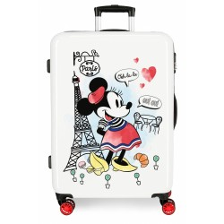 Maleta Mediana Minnie Around the World Paris rígida 68cm