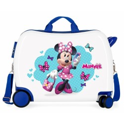 Maleta infantil 2 ruedas multidireccionales Minnie Good Mood Azul