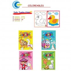 libro colorear jumbo color